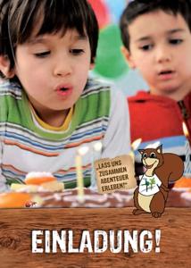 XPAD Kindergeburtstag Einladung