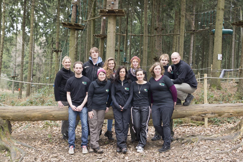 vorne von links: Henning Janssen, Klaudia Burbulla, Sara Bäckler, Annika Janssen, Natalie Görder | hinten von links: Katrin Kraft, Martin Hannig, Jana Falk, Sebastian Johst, Roland Matula