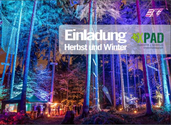 Postkarte Einladung Herbst und Winter 2019
